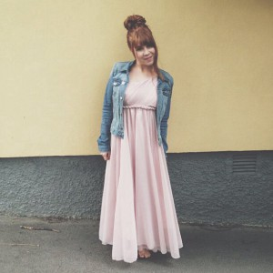 Dress and jeans