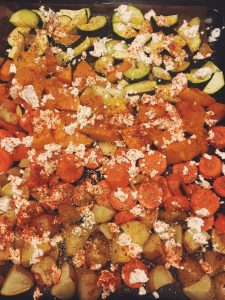 Roasted veggies with feta cheese - prime example for my cooking nowadays.
